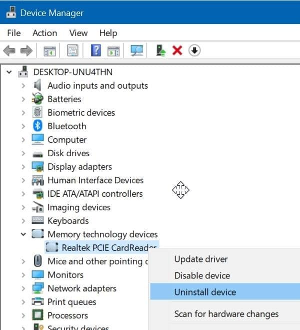 sd card not showing up in Windows 10 File Explorer pic9