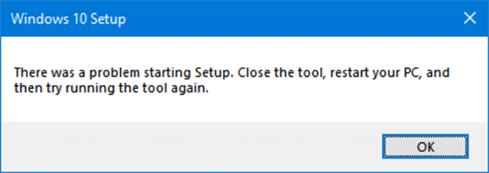 there was a problem running Windows media creation tool