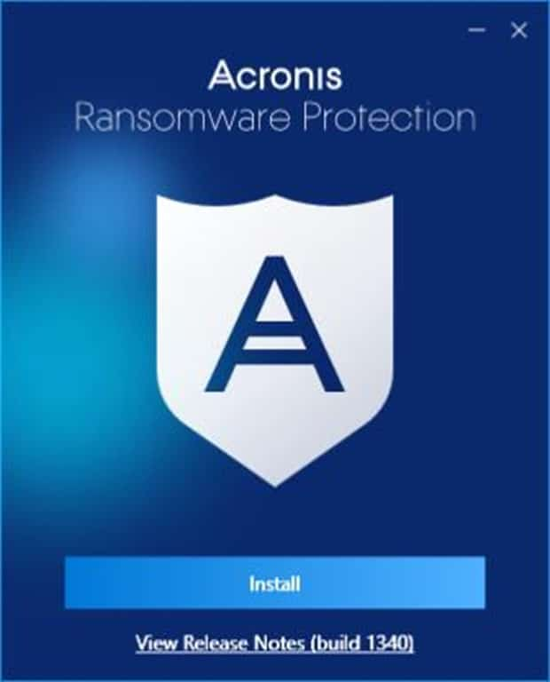 Acronis Ransomewere protection pic1