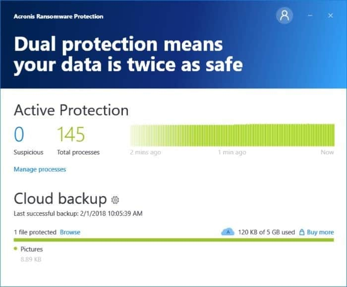 Acronis Ransomewere protection pic7