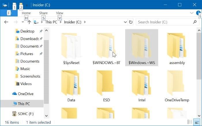 Delete $windows.~BT and $Windows.~WS folders in Windows 10 pic01