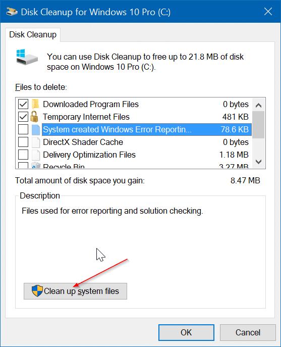 Delete $WINDOWS ~BT and $WINDOWS ~WS Folders In Windows 10
