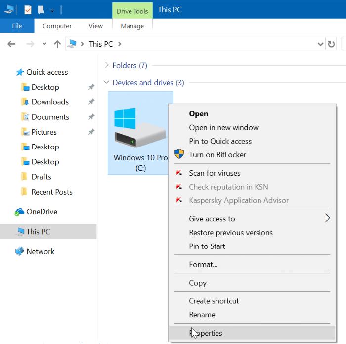 Delete $windows.~BT and $Windows.~WS folders in Windows 10