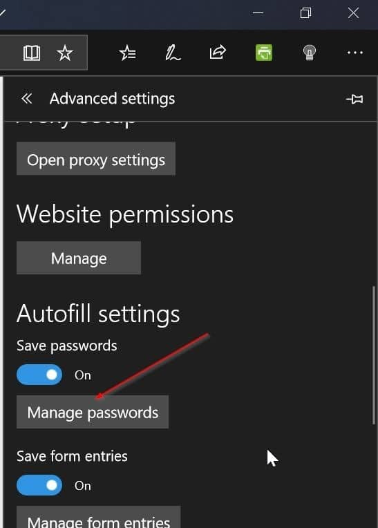 Edit or update passwords saved in Microsoft Edge in Windows 10 pic3