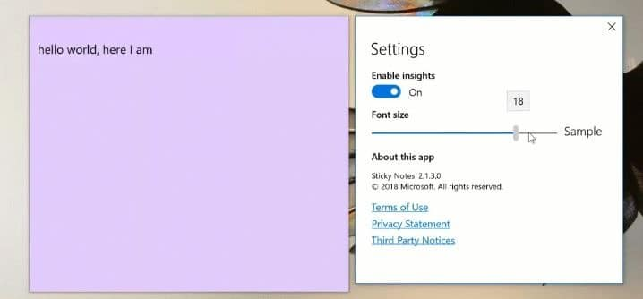 How To Change Font Size In Sticky Notes In Windows 10