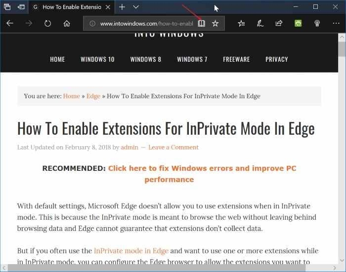 how to print webpages without ads using edge in windows 10