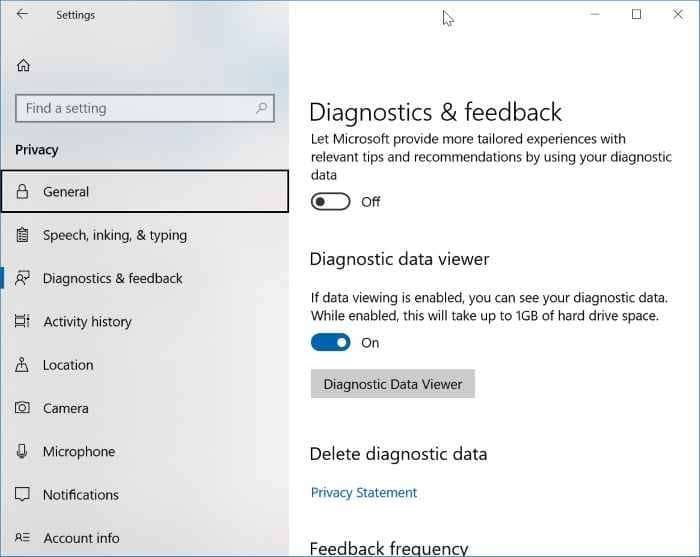 view the data Windows 10 sending to Microsoft pic03