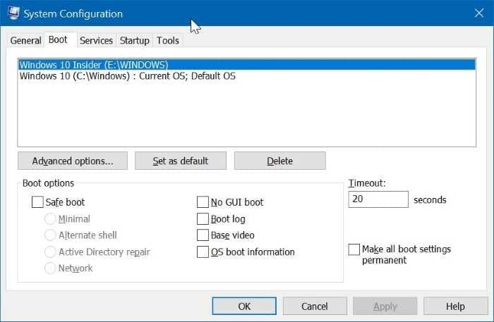Change boot order in Windows 10 (001)
