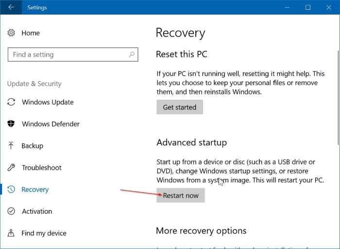 windows 10 how to change boot order