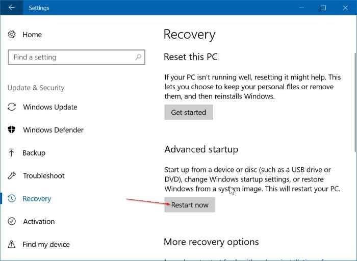 Change boot order in Windows 10 (02)