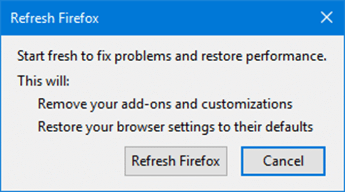 Refresh Firefox pic12