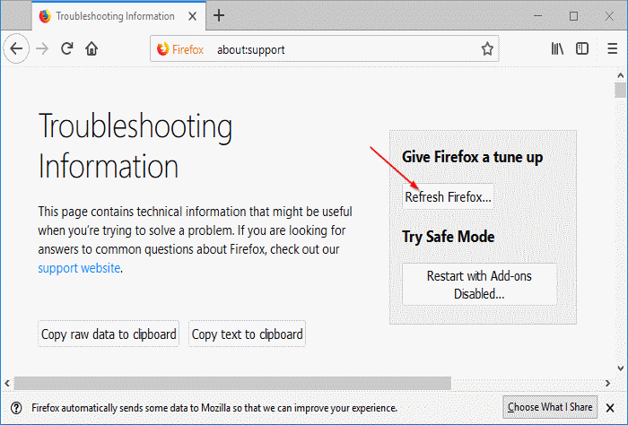 Refresh Firefox pic5