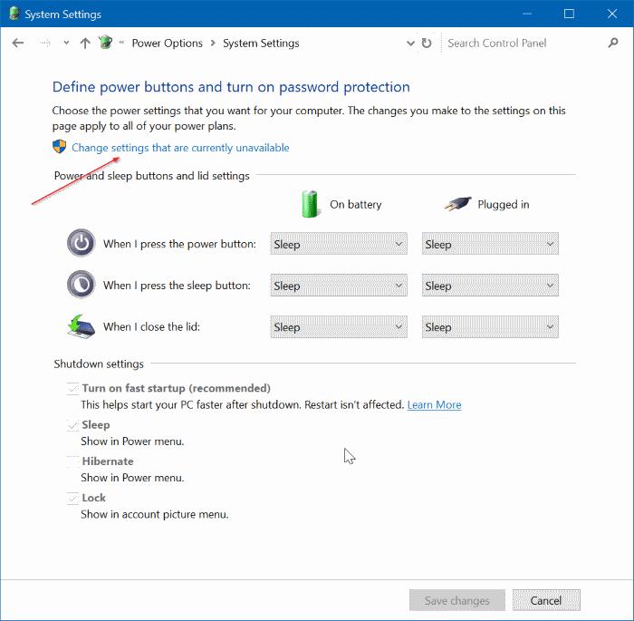 Add Hibernate To Power Menu In Windows 10 Start Menu
