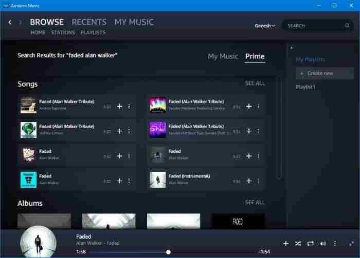 amazon music app for Windows 10 pic3