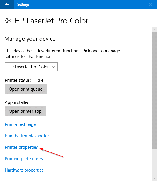 change printer name in Windows 10 pic3
