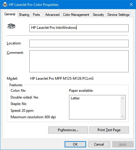 change printer name in Windows 10 pic4