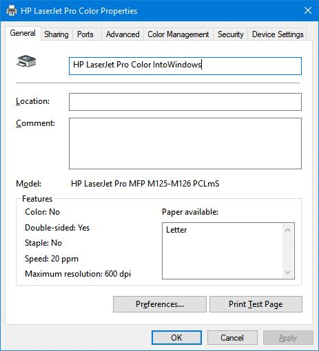 change printer name in Windows 10 pic7