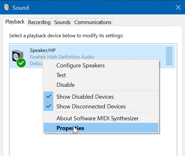 disable laptop speaker in Windows 10 pic3