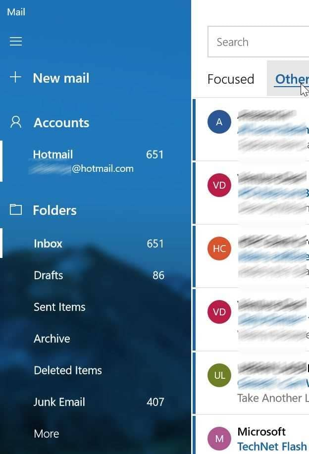 open spam or junk folder in Windows 10 mail pic4