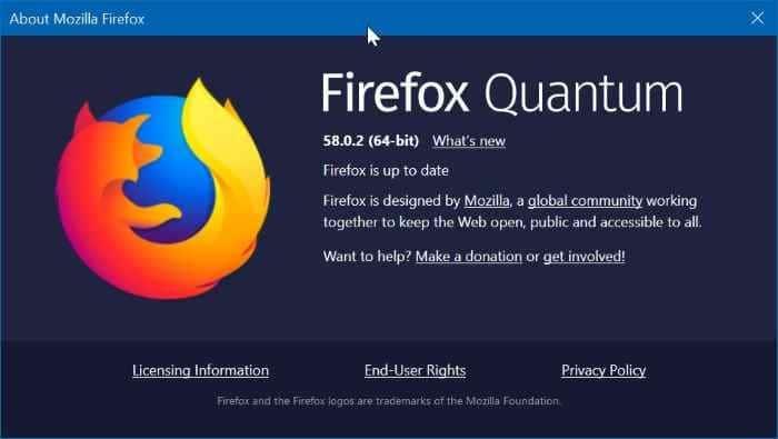 refresh firefox to repair it