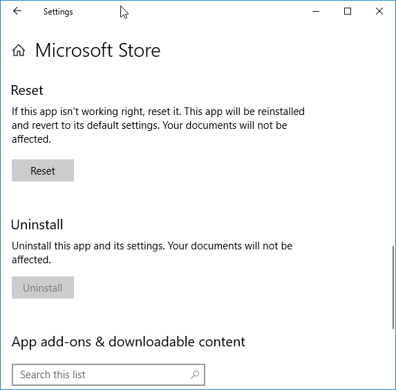 restore missing Store app in Windows 10 pic4