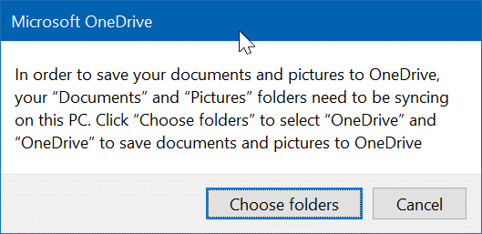save desktop, document and pictures folders in OneDrive in Windows 10 pic3