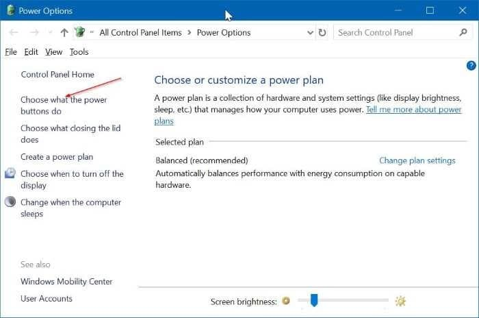 use power button to turn off laptop screen in Windows 10 pic2