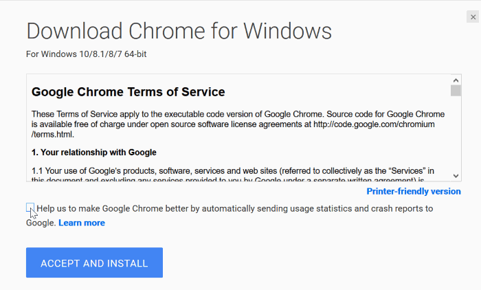 download google chrome for Windows 10 pic02
