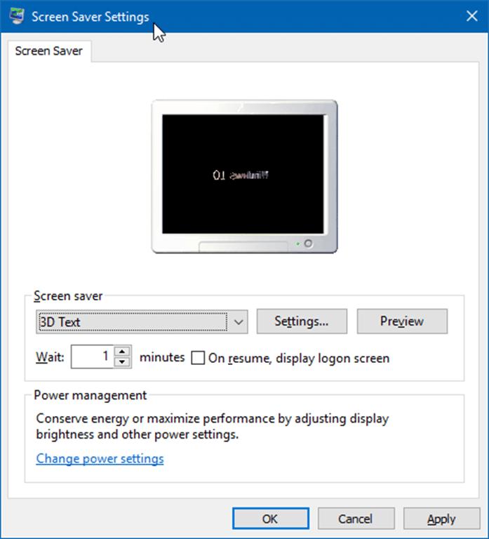 change screen saver settings in windows 10 pic2