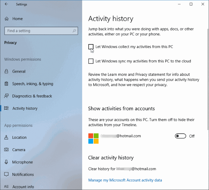 how to delete my microsoft account in windows 10