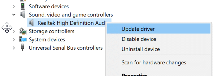 update device drivers in Windows 10
