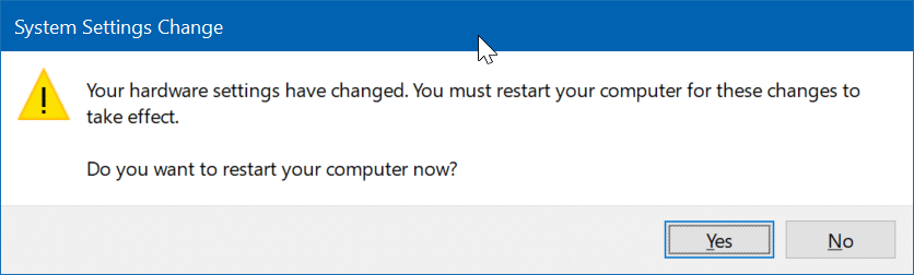 windows restart sound driver