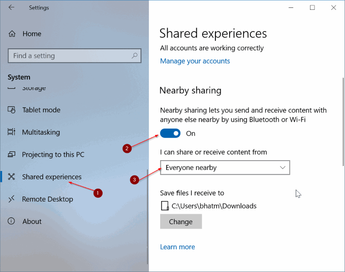 share files between Windows 10 computers pic1