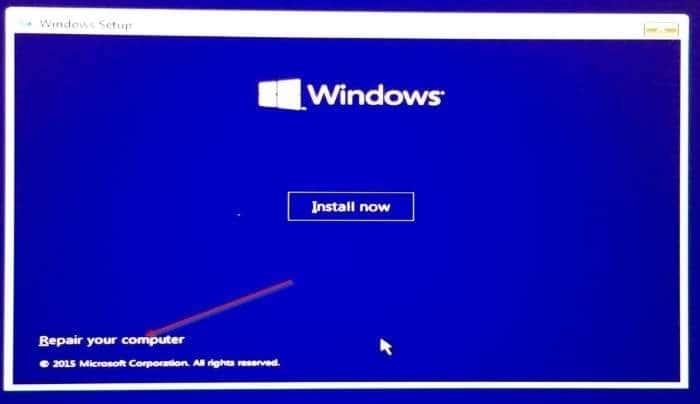 windows 10 will not start up