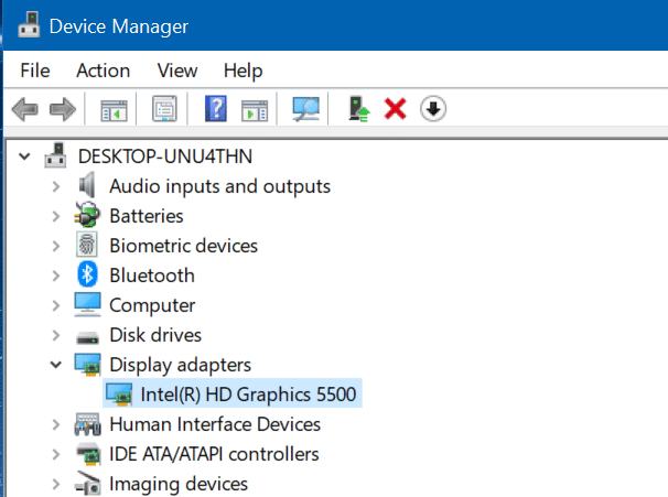 cannot change screen resolution in Windows 10 pic1