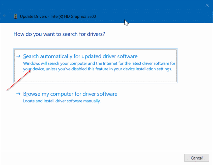 cannot change screen resolution in Windows 10 pic3