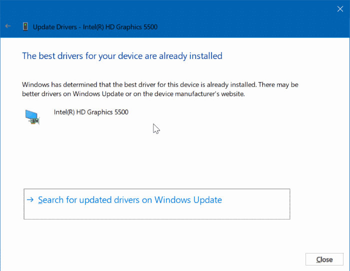 cannot change screen resolution in Windows 10 pic5