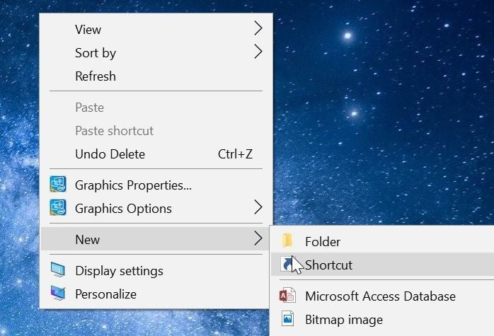 create desktop shortcut for printers folder in Windows 10 pic1
