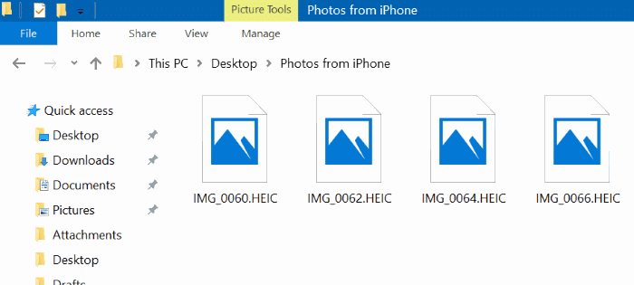 open and view heic pictures in Windows 10