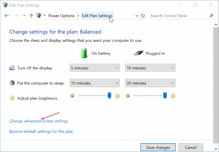 screen brightness not increasing in Windows 10 pic3