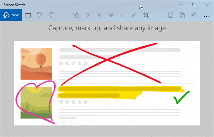 Uninstall Screen Sketch from Windows 10 pic001