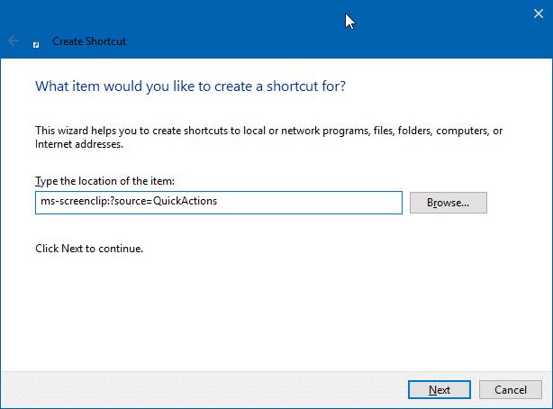 Create Snip & Sketch Snip Desktop Shortcut In Windows 10