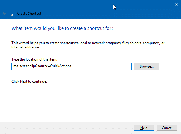 create screen sketch snip desktop shortcut in Windows 10 pic2