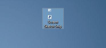 create screen sketch snip desktop shortcut in Windows 10 pic3