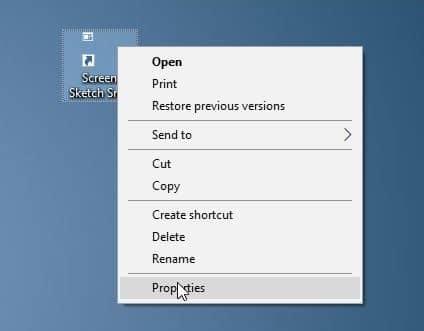 create screen sketch snip desktop shortcut in Windows 10 pic4