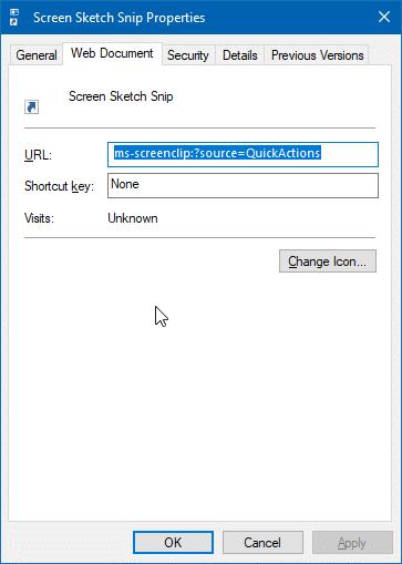 create screen sketch snip desktop shortcut in Windows 10 pic5