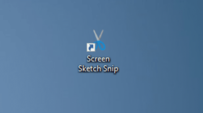 create screen sketch snip desktop shortcut in Windows 10 pic7