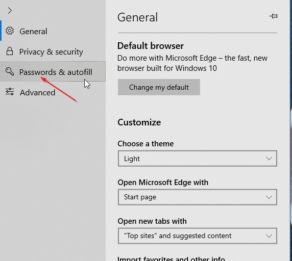 stop Edge from saving credit card information in Windows 10 pic3
