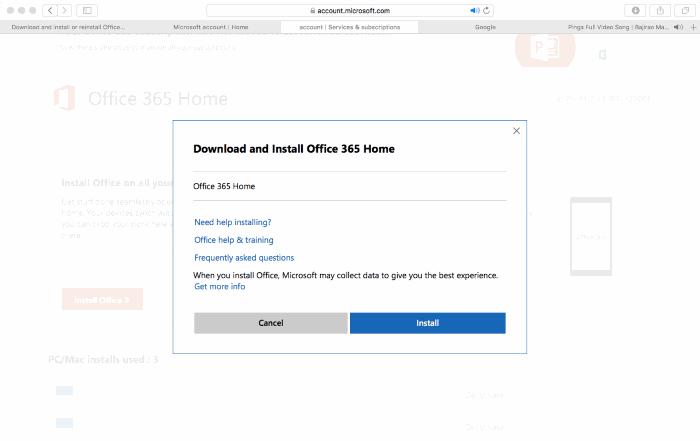 Download Office 365 offline installer for Mac pic3