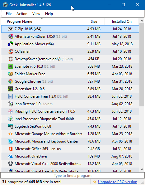 how to see installed programs on windows 10
